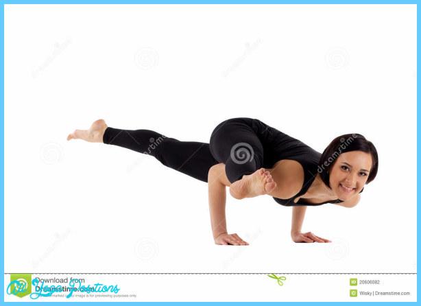 Woman Arm Balance Yoga - Eka Pada Koundiyanasana Stock Photography ...
