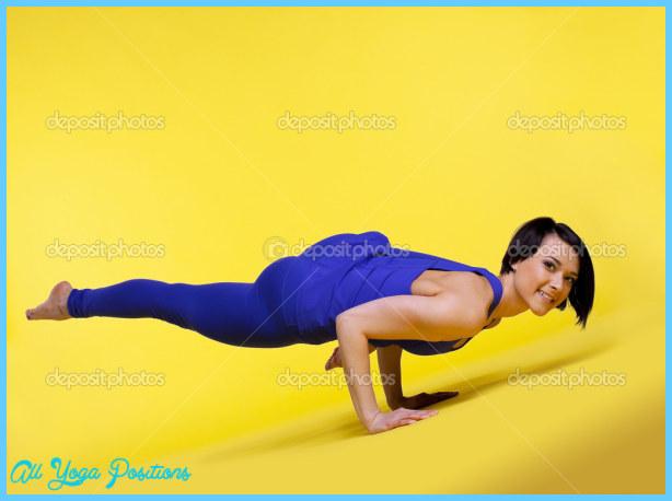 "Woman arm balance yoga - Eka Pada Koundiyanasana â"" Stock Photo ..."