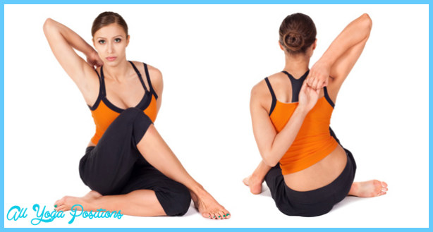 "called, ""Gomukhasana"" or the cow face pose. This seated yoga pose ..."