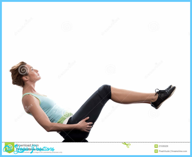 Woman paripurna navasana boat pose yoga on Abdominals workout posture ...