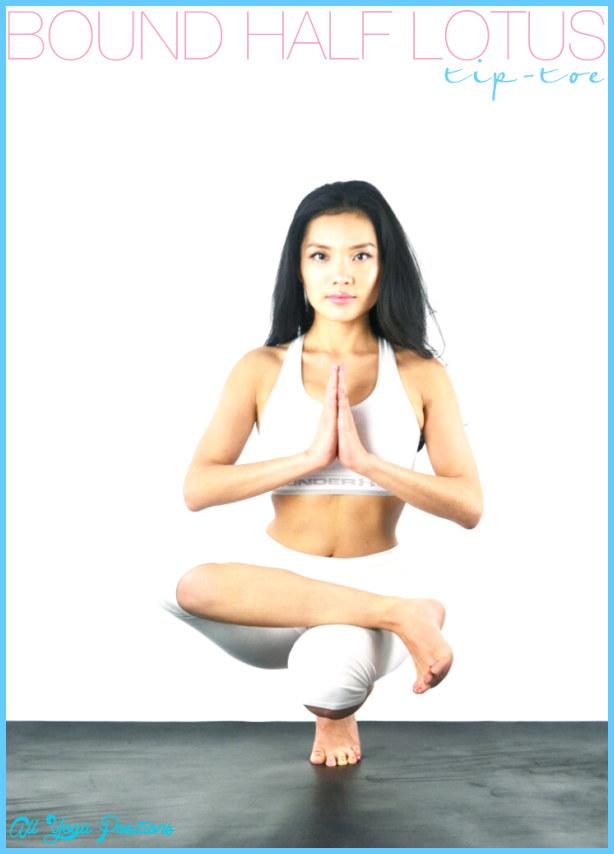 Bound Half Lotus Tip-Toe Pose or Ardha Baddha Padma Padangusthasana!