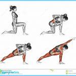 Yoga exercise. Revolved Side Angle Pose. Parivrtta Parsvakonasana ...