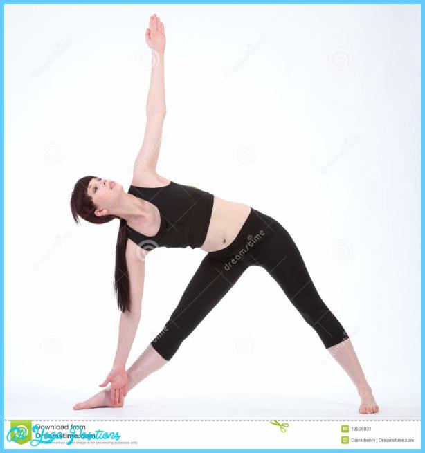 Revolved Triangle Yoga Pose Parivrtta Trikonasana Stock Image - Image ...
