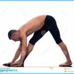 Man yoga Parsvottanasana stretching posture gymnastic stretching ...