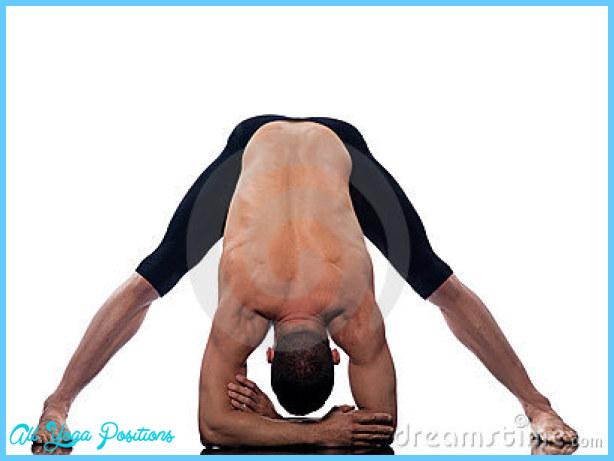 Man yoga Prasarita Padottanasana Wide-Legged Forward Bend gymnastic ...