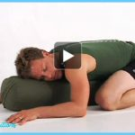restorative yoga pose video for comfort and joy