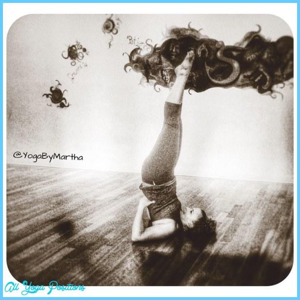 Yoga pose Inversion Supported Shoulderstand - Salamba Sarvangasana ...