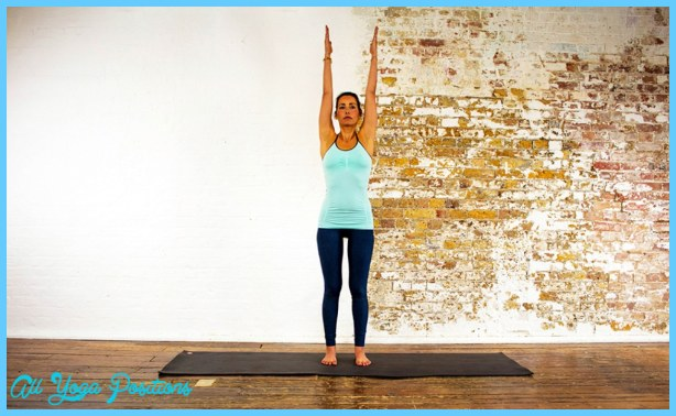 Mountain pose with upward stretch - Samasthiti - Yoga Poses | YOGA.com