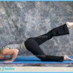 Woman doing Yoga posture sunbird pose right   Stock Photo ...