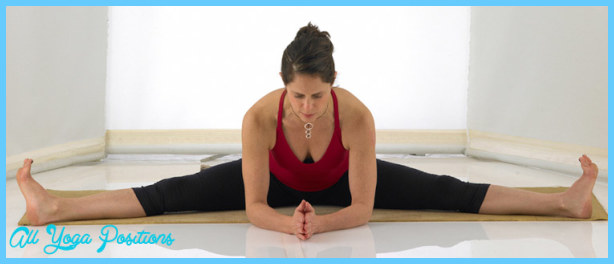 Upavistha Konasana – Wide Angle Seated Forward bend.