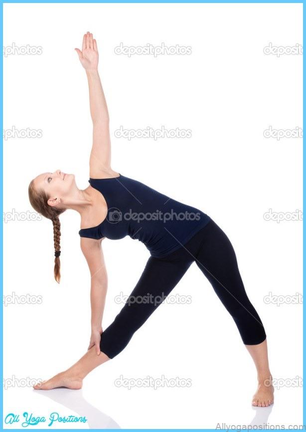 Yoga Utthita Trikonasana-Dreieck-pose   Stockfoto © byheaven ...