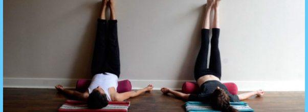 Viparita Karani, Legs Up the Wall. Restorative Yoga Inversion
