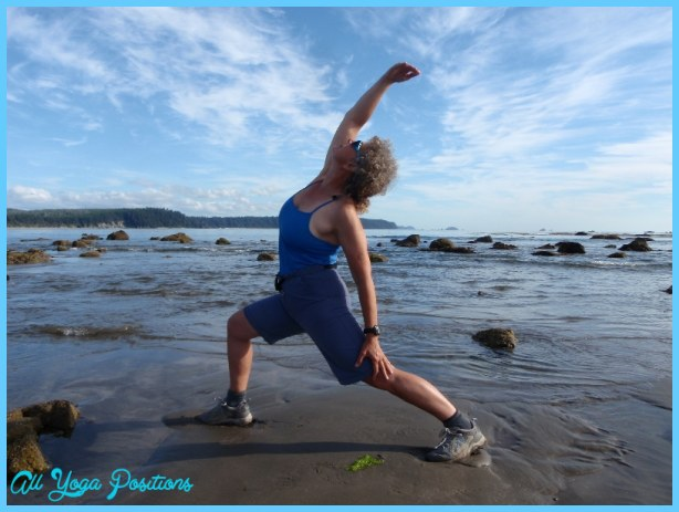 Jenny in Exalted Warrior (Viparita Virabhadrasana) at Sand Point Beach ...