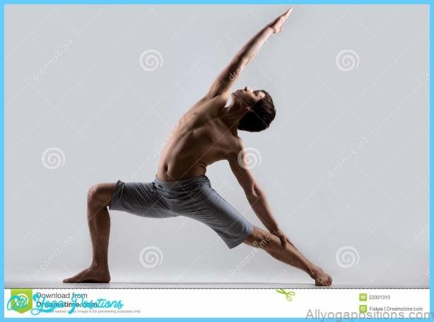 Pose Inverse De Guerrier De Yoga Photo stock - Image: 53301310