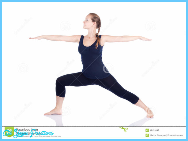 Yoga Virabhadrasana II Warrior Pose Royalty Free Stock Photography ...