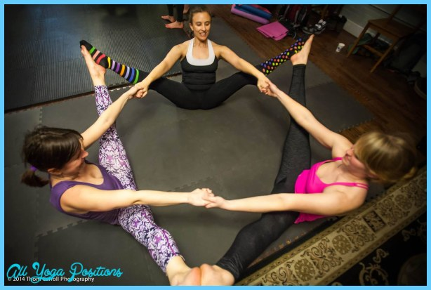 Yoga poses 3 person easy - AllYogaPositions.com