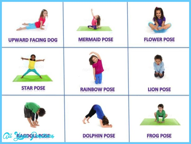 photo relating to Yoga Poses for Kids Printable known as Yoga poses for small children - ®