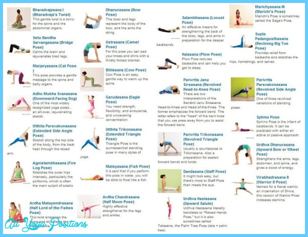 Complete List Of Yoga Poses Allyogapositions Com