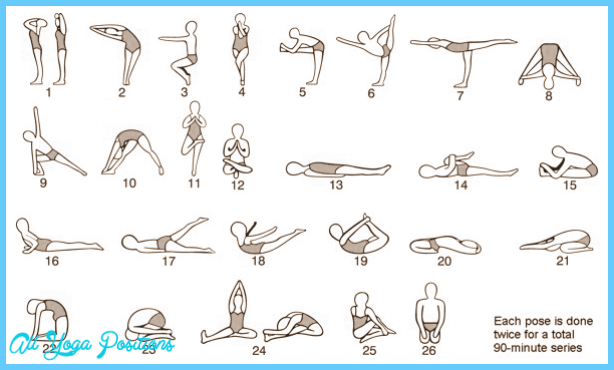 image regarding Bikram Yoga Poses Chart Printable named Bikram Yoga Poses Chart Printable - ®