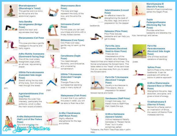 Bikram Yoga Poses Chart Printable 4