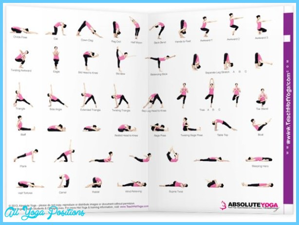 Bikram Yoga Poses Chart Printable 5