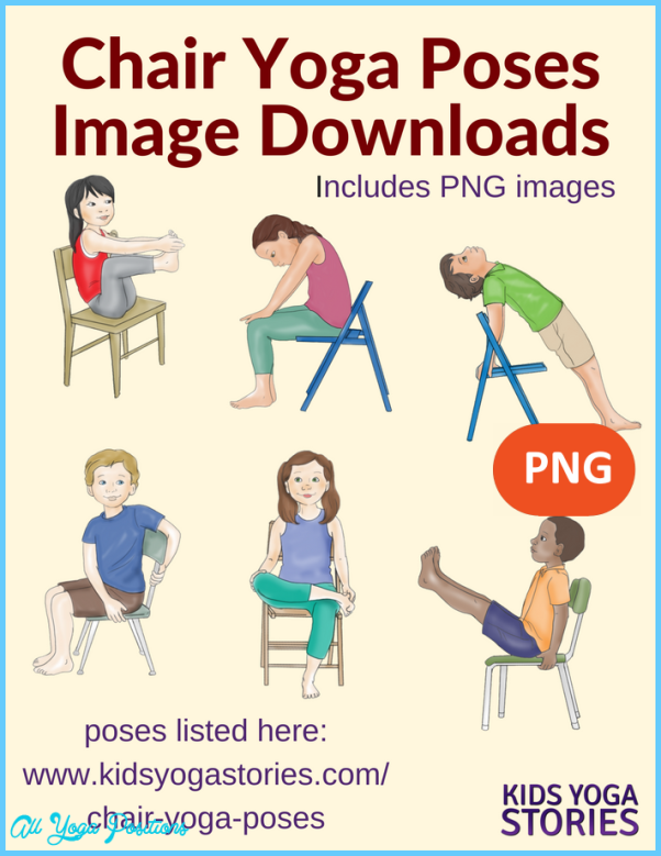 This is a picture of Adorable Printable Chair Yoga Routines