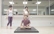 acro yoga sitting on the lotus blossom 6