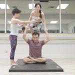 acro yoga sitting on the lotus blossom 7