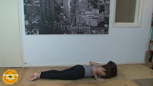 yoga for beginners sun salutation b with chair pose 18