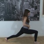 yoga for beginners sun salutation b with chair pose 22