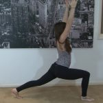 yoga for beginners sun salutation b with chair pose 23