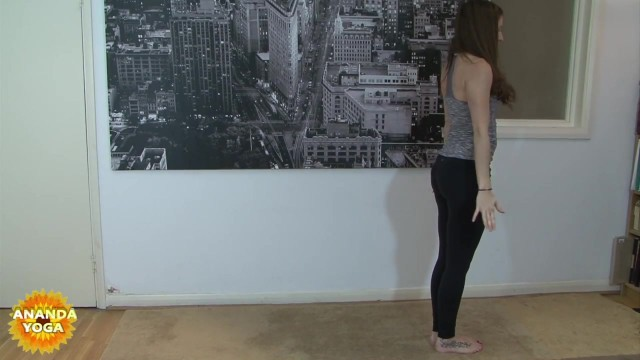 yoga for beginners sun salutation b with chair pose 31