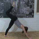 yoga for beginners sun salutation b with chair pose 33