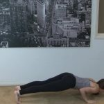 yoga for beginners sun salutation b with chair pose 34