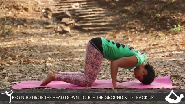 yoga poses tripod headstand workout tutorial i 4 10