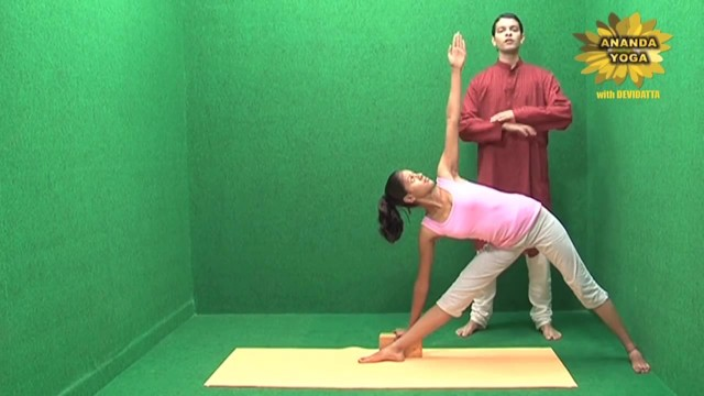 yoga with props for the flexibility of the spine 15