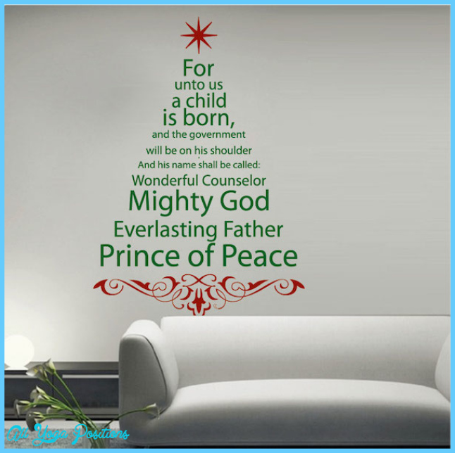 Spiritual Christmas Tree Wall Decal