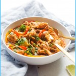 Minute Chicken Panang Curry Noodle Bowls Recipe