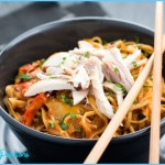Thai Curry Noodles with Chicken - Comfort food in a bowl!
