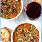 Smoked Sausage and Lentil Soup