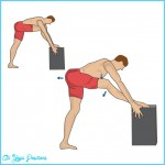 Hamstring stretch in the standing position
