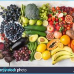 Healthy eating concept, assortment of rainbow fruits and vegetables