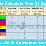 How to Calculate Your  Fix Calorie and Container Level