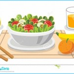 Eating Salads. Diet Food For Life. Healthy Foods