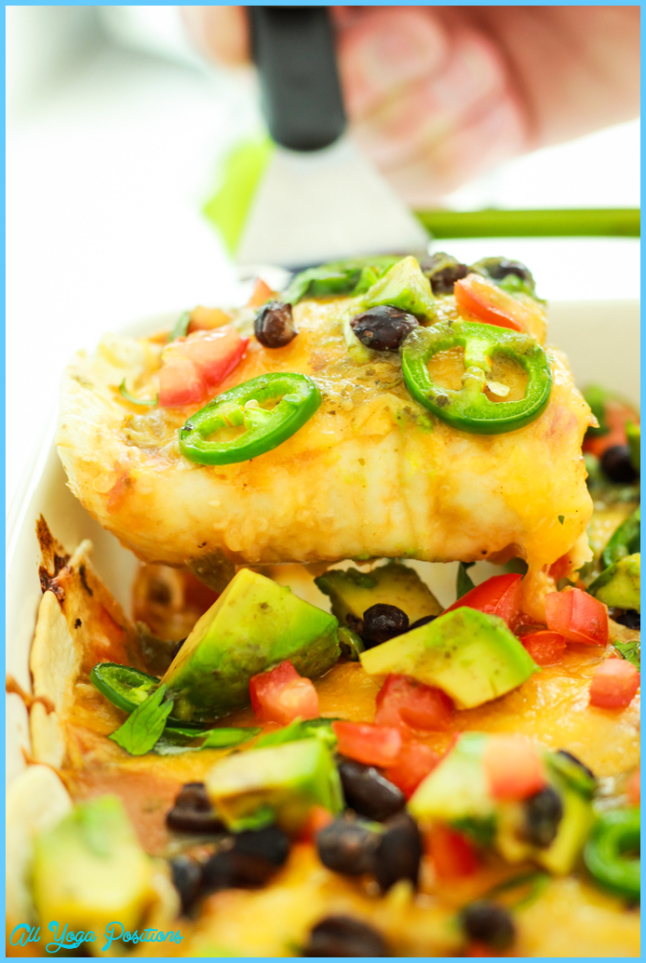 Green Chile Sweet Potato Enchiladas from The Fitchen