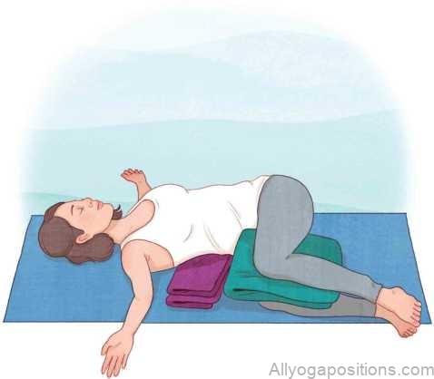 Restorative Yoga Poses : Gentle Open Twist