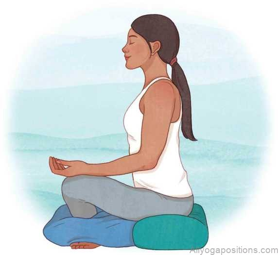 yoga pose seated meditation pose